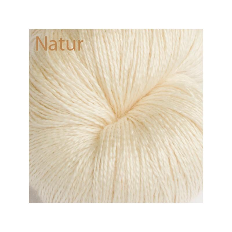Seide Alpaka Royal Lace Garn Naturweiss www.wollefein.ch